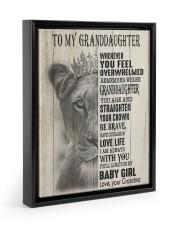 LOVE LIFE - LOVELY GIFT FOR GRANDDAUGHTER 11x14 Black Floating Framed Canvas Prints thumbnail