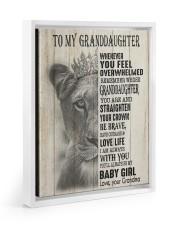 LOVE LIFE - LOVELY GIFT FOR GRANDDAUGHTER 11x14 White Floating Framed Canvas Prints thumbnail