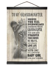LOVE LIFE - LOVELY GIFT FOR GRANDDAUGHTER 12x16 Black Hanging Canvas thumbnail