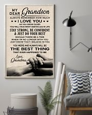 I LOVE YOU - SPECIAL GIFT FOR GRANDSON 11x17 Poster lifestyle-poster-1