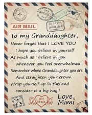 """STRAIGHTEN YOUR CROWN - FROM MIMI TO GRANDDAUGHTER Small Fleece Blanket - 30"""" x 40"""" front"""