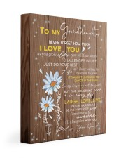 LAUGH LOVE LIVE - TO GRANDDAUGHTER FROM GRANDMA 11x14 Gallery Wrapped Canvas Prints front