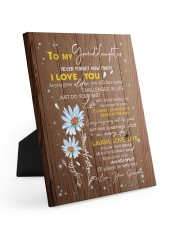 LAUGH LOVE LIVE - TO GRANDDAUGHTER FROM GRANDMA 8x10 Easel-Back Gallery Wrapped Canvas thumbnail