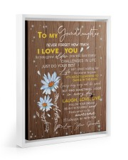 LAUGH LOVE LIVE - TO GRANDDAUGHTER FROM GRANDMA 11x14 White Floating Framed Canvas Prints thumbnail