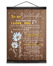 LAUGH LOVE LIVE - TO GRANDDAUGHTER FROM GRANDMA 12x16 Black Hanging Canvas thumbnail