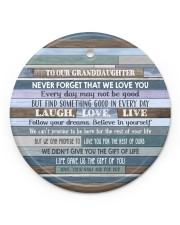 FOLLOW YOUR DREAMS - GRANDMA TO GRANDDAUGHTER Circle ornament - single (porcelain) front