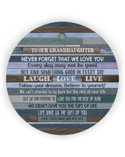 FOLLOW YOUR DREAMS - GRANDMA TO GRANDDAUGHTER Circle ornament - single (wood) thumbnail