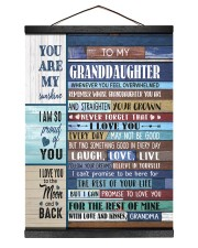 YOU ARE MY SUNSHINE - GREAT GIFT FOR GRANDDAUGHTER 12x16 Black Hanging Canvas thumbnail