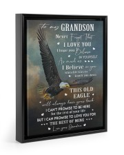I LOVE YOU - GRANDSON GIFT WITH EAGLE 11x14 Black Floating Framed Canvas Prints thumbnail