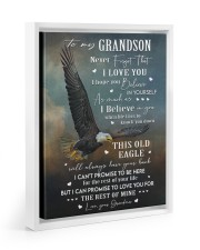 I LOVE YOU - GRANDSON GIFT WITH EAGLE 11x14 White Floating Framed Canvas Prints thumbnail