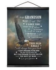 I LOVE YOU - GRANDSON GIFT WITH EAGLE 12x16 Black Hanging Canvas thumbnail
