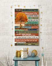 JUST DO YOUR BEST - GREAT GIFT FOR GRANDDAUGHTER 11x17 Poster lifestyle-holiday-poster-3