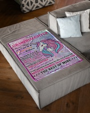 """I BELIEVE IN YOU - LOVELY GIFT FOR GRANDDAUGHTER Small Fleece Blanket - 30"""" x 40"""" aos-coral-fleece-blanket-30x40-lifestyle-front-03"""