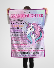 """I BELIEVE IN YOU - LOVELY GIFT FOR GRANDDAUGHTER Small Fleece Blanket - 30"""" x 40"""" aos-coral-fleece-blanket-30x40-lifestyle-front-14"""