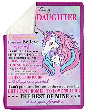 "I BELIEVE IN YOU - LOVELY GIFT FOR GRANDDAUGHTER Large Sherpa Fleece Blanket - 60"" x 80"" thumbnail"