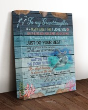 JUST DO YOUR BEST - BEST GIFT FOR GRANDDAUGHTER 11x14 Gallery Wrapped Canvas Prints aos-canvas-pgw-11x14-lifestyle-front-17