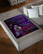 """LOVE IN THIS WORLD - GREAT GIFT FOR GRANDDAUGHTER Small Fleece Blanket - 30"""" x 40"""" aos-coral-fleece-blanket-30x40-lifestyle-front-03"""