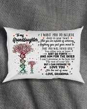 I CAN PROMISE - TO GRANDMA FROM GRANDDAUGHTER Rectangular Pillowcase aos-pillow-rectangle-front-lifestyle-1
