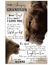 I LOVE YOU - GRANDSON GIFT WITH LION 11x17 Poster front