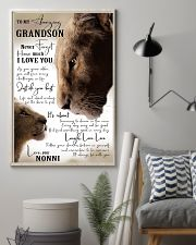 I LOVE YOU - GRANDSON GIFT WITH LION 11x17 Poster lifestyle-poster-1