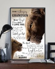 I LOVE YOU - GRANDSON GIFT WITH LION 11x17 Poster lifestyle-poster-2