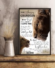 I LOVE YOU - GRANDSON GIFT WITH LION 11x17 Poster lifestyle-poster-3
