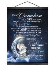 I LOVE YOU - GRANDSON GIFT WITH ELEPHANT 12x16 Black Hanging Canvas thumbnail
