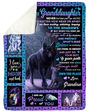 "PROUD OF YOU - GRANDMA TO GRANDDAUGHTER Large Sherpa Fleece Blanket - 60"" x 80"" thumbnail"