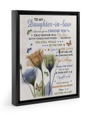 YOU'RE THE LOVE - BEST GIFT FOR DAUGHTER-IN-LAW Floating Framed Canvas Prints Black tile