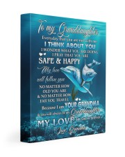 MY LOVE WILL FOLLOW YOU - GRANDMA TO GRANDDAUGHTER 11x14 Gallery Wrapped Canvas Prints front