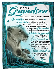 """BELIEVE IN YOURSELF - GRANDSON GIFT WITH LIONESS Small Fleece Blanket - 30"""" x 40"""" front"""