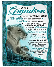 BELIEVE IN YOURSELF - GRANDSON GIFT WITH LIONESS Fleece Blanket tile