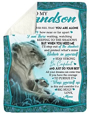 BELIEVE IN YOURSELF - GRANDSON GIFT WITH LIONESS Sherpa Fleece Blanket tile