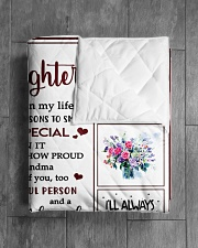 """EVERYDAY IS SPECIAL - GREAT GIFT FOR GRNADDAUGHTER Quilt 60""""x70"""" - Twin aos-quilt-60x70-lifestyle-closeup-front-04"""