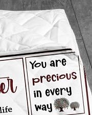"""EVERYDAY IS SPECIAL - GREAT GIFT FOR GRNADDAUGHTER Quilt 60""""x70"""" - Twin aos-quilt-60x70-lifestyle-closeup-front-07"""