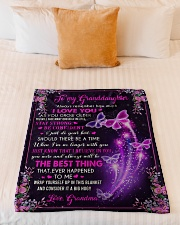 """THE BEST THING - GRANDMA TO GRANDDAUGHTER Small Fleece Blanket - 30"""" x 40"""" aos-coral-fleece-blanket-30x40-lifestyle-front-04"""