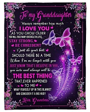 """THE BEST THING - GRANDMA TO GRANDDAUGHTER Small Fleece Blanket - 30"""" x 40"""" front"""
