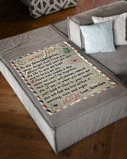 """NEVER FORGET I LOVE YOU - GRANDMA TO GRANDDAUGHTER Small Fleece Blanket - 30"""" x 40"""" aos-coral-fleece-blanket-30x40-lifestyle-front-03"""