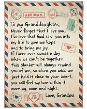 NEVER FORGET I LOVE YOU - GRANDMA TO GRANDDAUGHTER Fleece Blanket tile