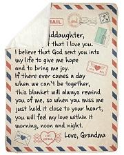 NEVER FORGET I LOVE YOU - GRANDMA TO GRANDDAUGHTER Sherpa Fleece Blanket tile