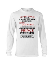 YOU CAN'T SCARE ME - PERFECT GIFT FOR NANNY Long Sleeve Tee tile