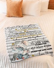 """I LOVE YOU FOREVER - LOVELY GIFT FOR GRANDDAUGHTER Small Fleece Blanket - 30"""" x 40"""" aos-coral-fleece-blanket-30x40-lifestyle-front-01"""