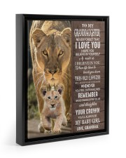 STRAIGHTEN YOUR CROWN-GRANDDAUGHTER GIFT WITH LION 11x14 Black Floating Framed Canvas Prints thumbnail