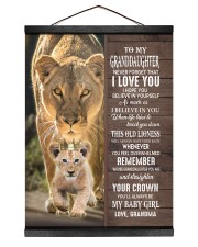 STRAIGHTEN YOUR CROWN-GRANDDAUGHTER GIFT WITH LION 12x16 Black Hanging Canvas thumbnail