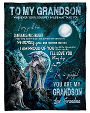 """I AM PROUD OF YOU - GIFT FOR GRANDSON FROM GRANDMA Small Fleece Blanket - 30"""" x 40"""" front"""
