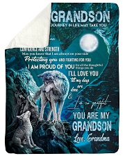 """I AM PROUD OF YOU - GIFT FOR GRANDSON FROM GRANDMA Large Sherpa Fleece Blanket - 60"""" x 80"""" thumbnail"""