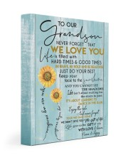 WE LOVE YOU - LOVELY GIFT FOR GRANDSON 11x14 Gallery Wrapped Canvas Prints front
