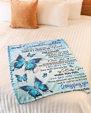 """I BELIEVE IN YOU - TO GRANDDAUGHTER FROM GRANDMA Small Fleece Blanket - 30"""" x 40"""" aos-coral-fleece-blanket-30x40-lifestyle-front-01"""