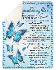 """I BELIEVE IN YOU - TO GRANDDAUGHTER FROM GRANDMA Large Sherpa Fleece Blanket - 60"""" x 80"""" thumbnail"""