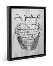SPECIAL CANVAS FOR YOUR GRANDDAUGHTER Floating Framed Canvas Prints Black tile